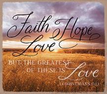 Coaster: Faith-Hope-Love