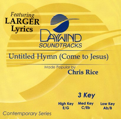 untitled hymn come to jesus pdf