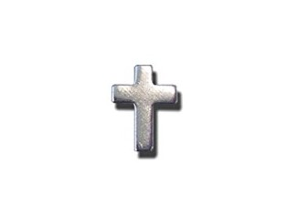 "Lapel 1/2"" Silver Pin Cross (24 Per Pack)"