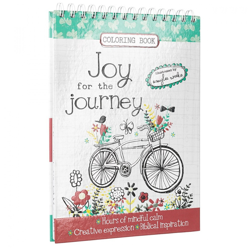Joy for the journey hardcover inspirational adult Coloring books for adults spiral bound