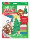 Mess-Free Glitter: Christmas Tree & Gingerbread House