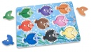 Colorful Fish Wooden Peg Puzzle