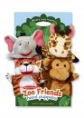 Zoo Friends Hand Puppets (Giraffe, Elephant, Monkey, Tiger)