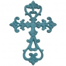 "Turquoise 10"" Wall Cross"