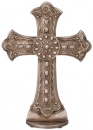 "Silver 8"" Cross On Pedestal"