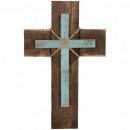 "Natural Stain 16"" Wall Cross"