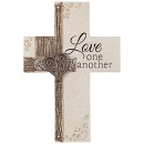 "Love One Another 10"" Wall Cross"