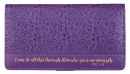 Purple Checkbook Cover: I Can Do All This