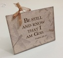 Be Still: Ceraminc Plaque