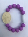 Purple Adult Miraculous Medal Bracelet