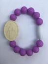 Purple Adult Miraculous Medal Bracelet