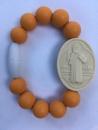 Orange Kids St. Benedict Medallion Bracelet