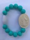 Turquoise Adult St. Benedict Medallion Bracelet