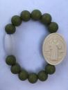 Olive Adult St. Benedict Medallion Bracelet