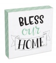 Bless Our Home 8x8 Wood Plaque