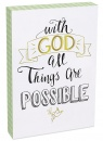 With God All Things Are Possible 8x12 Wood Plaque