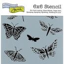 6x6 Stencil: Butterflies