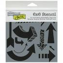 6x6 Stencil: Susana's Arrows