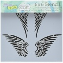 6x6 Stencil: Angel Wings