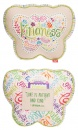 """""""Love Is Patient & Kind"""" (1 Cor. 13:4) Butterfly Affirmation Pilllow"""