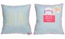 """Shine Like The Stars In The Sky"" (Phil. 2:15) Square Affirmation Pillow"