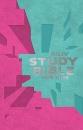 NKJV Study Bible for Kids--soft leather-look, pink/teal
