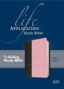 KJV Life Application Study Bible (Dark Brown/Pink)
