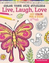 Color Your Own Stickers: Live, Laugh, Love