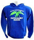 Faith, Family, Ducks Shirt: Royal Blue/Green | Youth Large