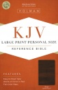 KJV Personal Size Reference Bible: Large Print | Leather Touch | Brown