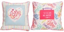 """""""Let Us Love One Another"""" (1 John 4:7) Square Affirmation Pillow"""