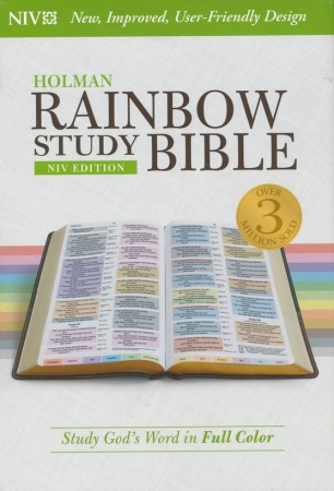 NIV Rainbow Study Bible, Hardcover