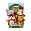Zoo Friends Hand Puppets (Giraffe, Elephant, Monkey, Tiger)