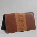 """Steadfast Love"" Two-tone Checkbook Cover"