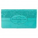 "Turquoise ""Everlasting Love"" Checkbook Cover"