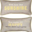 You Are My Sunshine Reversible Happy Decorative Pillow