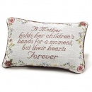 A Mother Holds Her Children's Hands--Tapestry Pillow