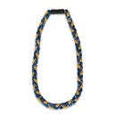 Be Strong and Courageous Sports Necklace, Navy and Gold