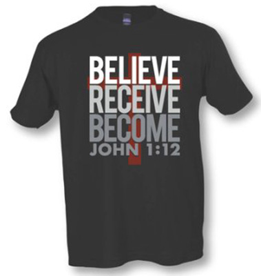 Case For Christ: Believe Receive Become T-Shirt (Large)