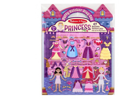Princess Puffy Sticker Set